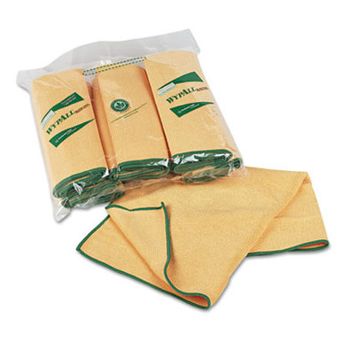 WypAll* Cloths w/Microban, Microfiber, 15 3/4 x 15 3/4, Yellow